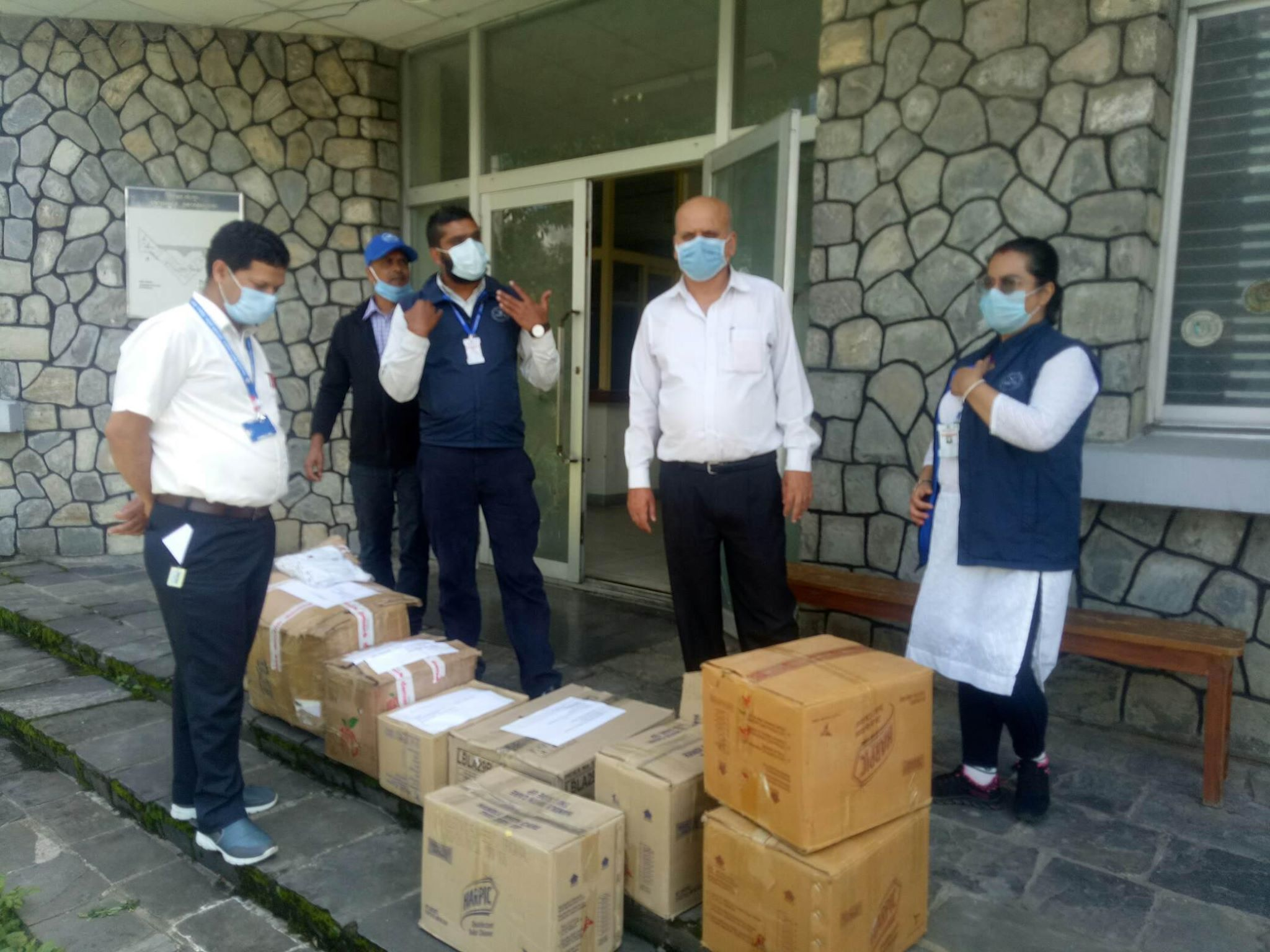 COVID-Response-Support-Materials-handing-over-to-Regional-TB-Center-Pokhara