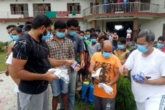 Cloth-mask-sand-soaps-distributed-at-isolation-block-by-team-leaders-of-COVID-Infected-persons-and-run-by-Madhyabindhu-District-Hospital-and-Prakritik-Chikitsalaya-Rajahar
