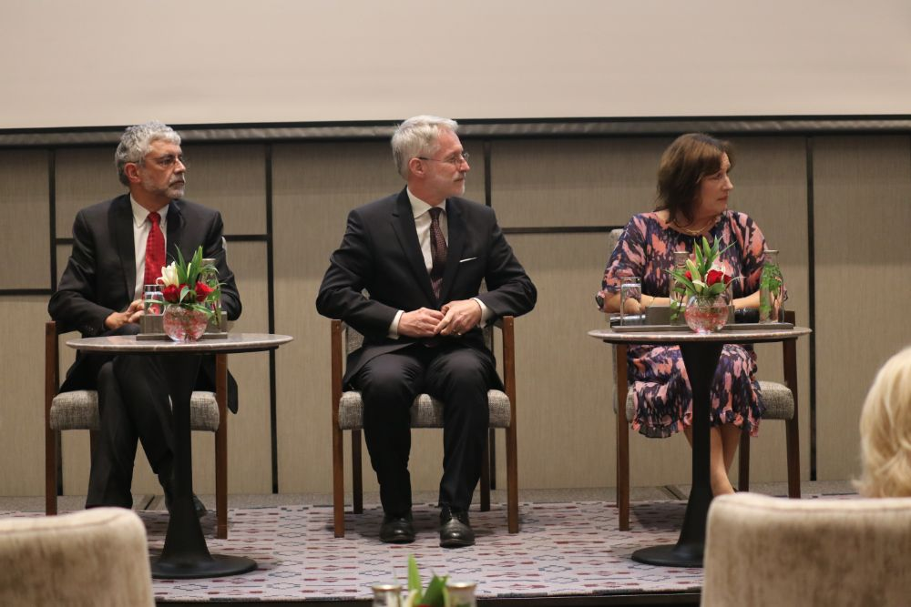 Dr.-Jos-Vandelaer-WHO-Representative-to-Nepal-Dr.-JSchenkelaars-DFB-Board-of-Directors-and-Mrs.-Ilse-Errygers-Head-of-Communications-Fundraising-DFB-during-the-Seminar-